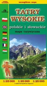 TATRY WYSOKIE Polskie i Słowackie mapa turystyczna 1:25 000 CARTOMEDIA 2019/2020