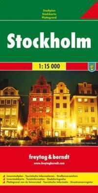SZTOKHOLM plan miasta 1:15 000 FREYTAG & BERNDT