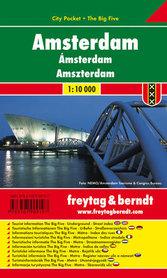 AMSTERDAM plan miasta laminowany 1:10 000 FREYTAG & BERNDT