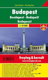BUDAPESZT plan miasta laminowany 1:10 000 FREYTAG & BERNDT