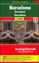 BARCELONA plan miasta laminowany 1:10 000 FREYTAG & BERNDT