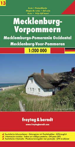 MEKLENBURGIA VORPOMMERN  CZ. 13 (POMORZE ZACHODNIE) mapa samochodowa 1:200 000 FREYTAG & BERNDT NIEMCY