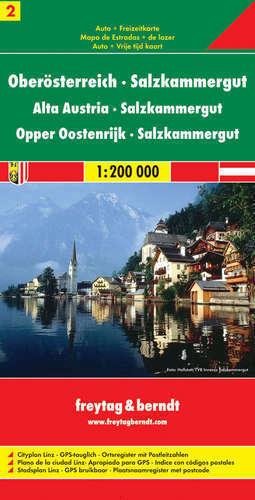 CZ. 2 GÓRNA AUSTRIA SALZKAMMERGUT mapa samochodowa 1:200 000 FREYTAG & BERNDT