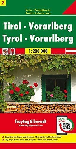 TYROL VORARLBERG mapa samochodowa 1:200 000 FREYTAG & BERNDT 2020