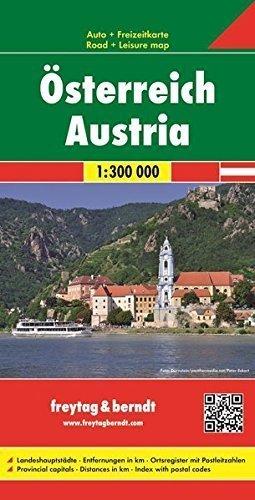 AUSTRIA mapa samochodowa 1:300 000 FREYTAG & BERNDT
