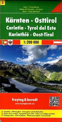 CZ. 5 KARYNTIA TYROL WSCHODNI mapa samochodowa 1:200 000 FREYTAG & BERNDT AUSTRIA