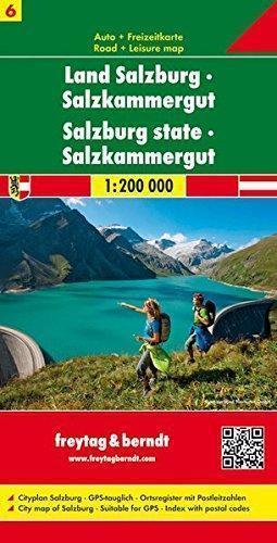 CZ. 6 SALZBURG mapa samochodowa 1:200 000 FREYTAG & BERNDT