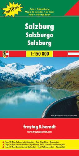 SALZBURG (REGION) mapa  1:150 000 FREYTAG & BERNDT AUSTRIA