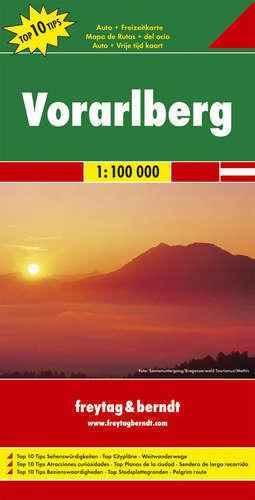 VORARLBERG PRZEDARULANIA mapa samochodowa 1:100 000 FREYTAG & BERNDT