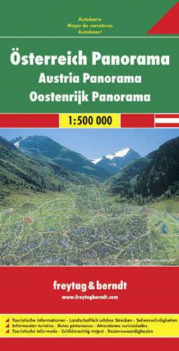 AUSTRIA PANORAMA  mapa panoramiczna 1:500 000 FREYTAG & BERNDT
