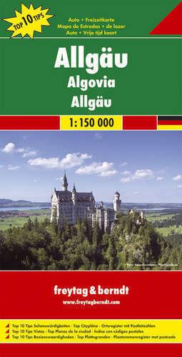 ALLGAU mapa samochodowa 1:150 000 FREYTAG & BERNDT