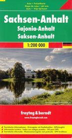SAKSONIA ANHALT CZ. 10 mapa samochodowa 1:200 000 FREYTAG & BERNDT NIEMCY