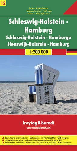 SZLEZWIG HOLSZTYN - SCHLESWIG HELSTEIN - HAMBURG CZ. 12 mapa samochodowa 1:200 000 FREYTAG & BERNDT NIEMCY
