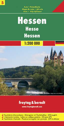 HESJA HESSEN CZ. 5 mapa samochodowa 1:200 000 FREYTAG & BERNDT
