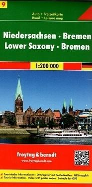 DOLNA SAKSONIA BREMEN CZ. 9 mapa samochodowa 1:200 000 FREYTAG & BERNDT NIEMCY