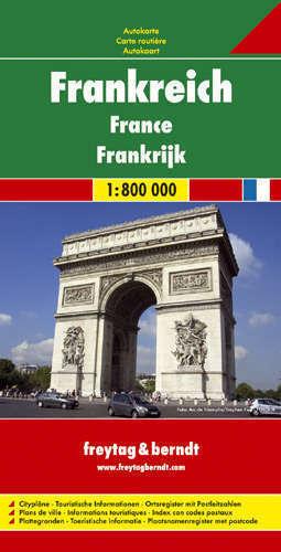 FRANCJA mapa samochodowa 1:800 000 FREYTAG & BERNDT
