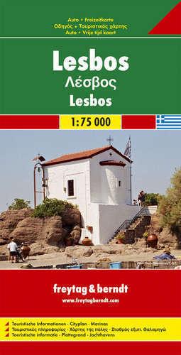 LESBOS MAPA SAMOCHODOWA FREYTAG 1:75 000
