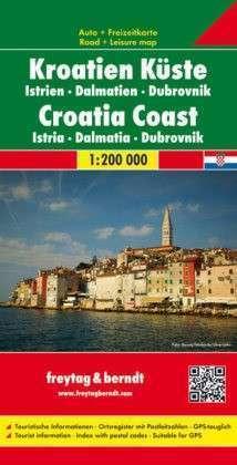 CHORWACJA WYBRZEŻE - ISTRIA DALMACJA DUBROWNIK mapa 1:200 000 FREYTAG & BERNDT