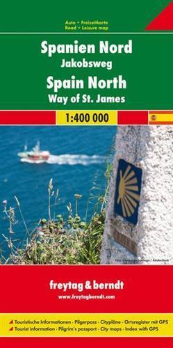 HISZPANIA PÓŁNOCNA  DROGA ŚWIĘTEGO JAKUBA mapa 1:400 000 FREYTAG & BERNDT