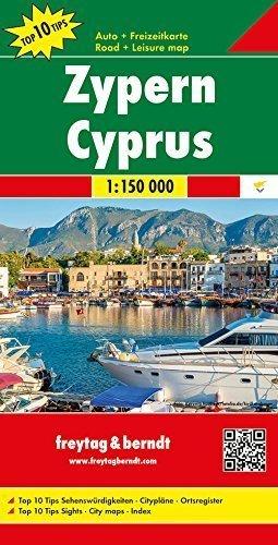CYPR mapa samochodowa 1:150 000 FREYTAG & BERNDT