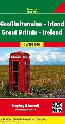 WIELKA BRYTANIA IRLANDIA mapa samochodowa 1:700 000 FREYTAG&BRENDT