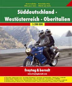 POŁUDNIOWE NIEMCY - ZACHODNIA AUSTRIA - PÓŁNOCNE WŁOCHY - ATLAS MOTOCYKLISTY 1:200 000 FREYTAG&BERNDT