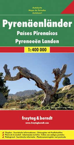 PIRENEJE - REGION mapa samochodowa 1:400 000 FREYTAG&BRENDT