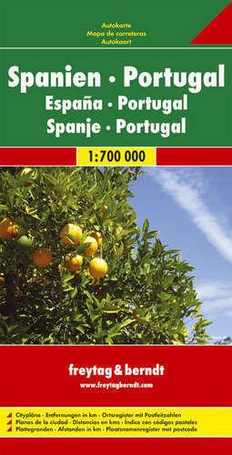 HISZPANIA PORTUGALIA mapa samochodowa 1:700 000 FREYTAG & BERNDT