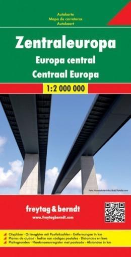 EUROPA ŚRODKOWA mapa samochodowa 1:2 000 000 FREYTAG&BRENDT