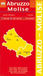ABRUZJA MOLISE mapa samochodowa regionu 1:250 000 LAC WŁOCHY