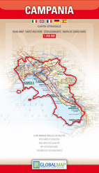 CAMPANIA KAMPANIA mapa samochodowa regionu 1:250 000 LAC WŁOCHY