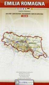EMILIA ROMANIA - EMILIA ROMAGNA mapa samochodowa regionu 1:250 000 LAC WŁOCHY