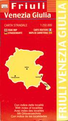 Friuli Venezia Giulia - Friuli-Wenecja Julijska mapa samochodowa regionu 1:250 000 LAC WŁOCHY