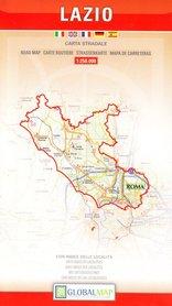LAZIO LACJUM mapa samochodowa regionu 1:250 000 LAC WŁOCHY