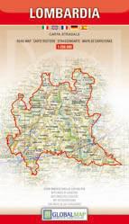 LOMBARDIA mapa samochodowa regionu 1:250 000 LAC WŁOCHY
