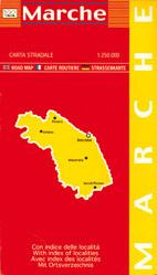 MARCHE mapa samochodowa regionu 1:250 000 LAC WŁOCHY