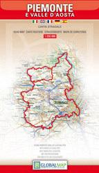 PIEMONT i DOLINA AOSTY - Piemonte/Valle d'Aosta  mapa samochodowa regionu 1:250 000 LAC WŁOCHY