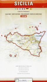 SYCYLIA mapa samochodowa regionu 1:250 000 LAC WŁOCHY