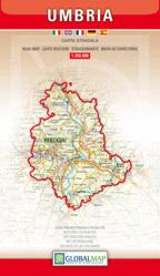 UMBRIA  mapa samochodowa regionu 1:250 000 LAC WŁOCHY