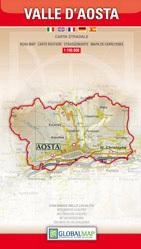 DOLINA AOSTY Valle d'Aosta   mapa samochodowa regionu 1:100 000 LAC WŁOCHY