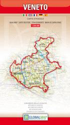 WENECJA EUGANEJSKA Veneto - mapa samochodowa regionu 1:250 000 LAC WŁOCHY