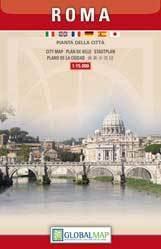 RZYM ROMA plan CENTUM miasta 1:15 000 LAC WŁOCHY