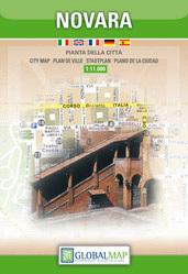 NOVARA plan miasta 1:11 000 LAC WŁOCHY
