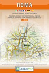 RZYM ROMA MAPA PROWINCJI 1:150 000 LAC WŁOCHY