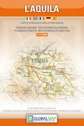 L'Aquila MAPA PROWINCJI 1:175 000 LAC WŁOCHY