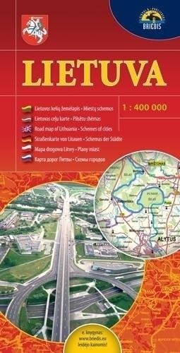 LITWA mapa samochodowa 1:400 000 Briedis