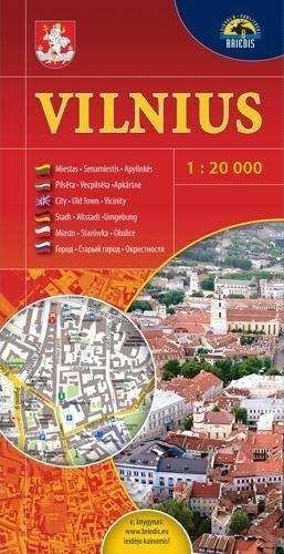 WILNO plan miasta 1:20 000 Briedis LITWA