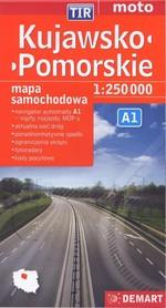 KUJAWSKO POMORSKIE mapa samochodowa 1:250 000 DEMART 2015