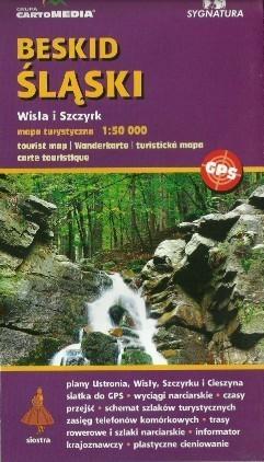 BESKID ŚLĄSKI Wisła Szczyrk mapa turystyczna 1:50 000 CARTOMEDIA
