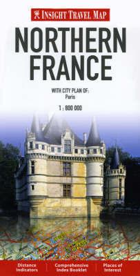 FRANCJA PÓŁNOCNA mapa 1:800 000 Insight Travel Map